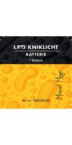 led kniklicht batterij